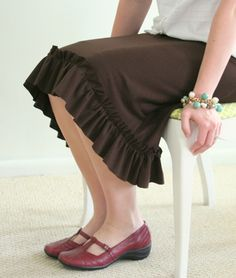 Quality Sewing Tutorials: Drawstring Jersey Skirt tutorial by Cluck Cluck Sew