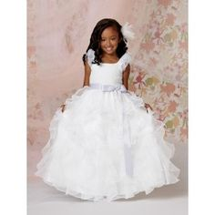 d26e4c7a2f Ruffled Sleeve Gown by Jordan Sweet Beginnings Collection - Flower Girl  Dresses 2014 - Wedding Party Dresses