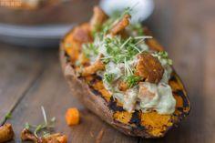 Mit Guacamole gefüllte Süßkartoffeln | *Von Honig und Vanille: Mit Guacamole gefüllte Süßkartoffeln