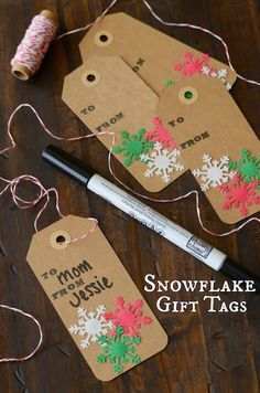DIY Snowflake Gift Tags ~ Only Deco
