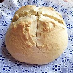 Eucharistic Bread. 3c all-purpose flour. 1/4c brown sugar. 1/2Tbs salt.1tsp baking soda.2Tbs honey. 1/4c shortening.1c water.Preheat oven 350F.Lightly grease 2 baking sheets.In lg mixing bowl, combine flour,sugar,salt,baking soda.Stir in honey, shortening,water. Mix dough until smooth n well developed.Turn dough out onto lightly floured surface,knead until smooth n supple, about 8 min.Divide dough into 2 equal pieces, form into loaves.Place loaves on baking sheets. Bake in oven 35-40min…