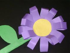 Indoor Activity - Making a 3D toy flower.
