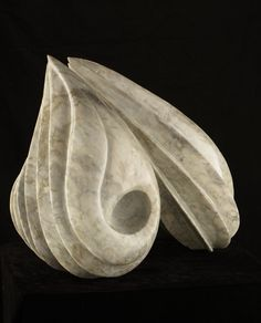 "Renata Barcelos sculpture ""Stone from Jupiter"" Aurora Perola marble."