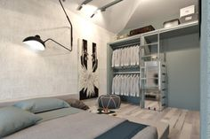 (via 4 Small Studio Apartments Decorated in 4 Different Styles)