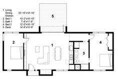 Energy Efficient   Green Home Floor Plans - Houseplans.com  2BR   1BA   1 FLOORS   1,160 SQFT