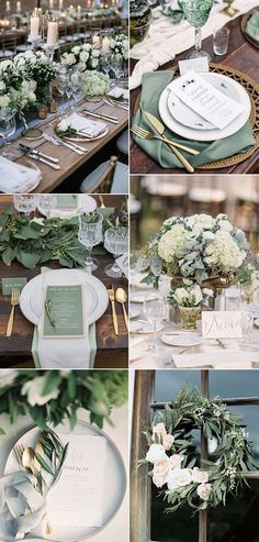 30 Sage Green Wedding Ideas for 2019 Trends Page 2 of 2 Oh Best Day . - 30 Sage Green Wedding Ideas for 2019 Trends Page 2 of 2 Oh Best Day Ever - Mod Wedding, Wedding Table, Rustic Wedding, Wedding Parties, Dream Wedding, Trendy Wedding, Natural Wedding Decor, Wedding House, Wedding Week