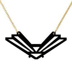 Necklace by Celine Sway Arrow Necklace, Gold Necklace, Deco, Celine, Jewelry Box, Jewels, Black, Fashion, Black People