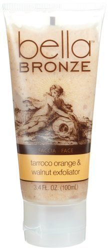 Bella Bronze Tarroco Orange & Walnut Exfoliator For Face by Bella Bronze. $4.00. Smoothes and primes skin for superior self-tanning benefits. Refines skin texture for a fresh, new radiance - without irritation. Eliminates surface impurities and dead surface cells. Dermatologist-tested. Tarroco Orange & Walnut Exfoliator For Face. The face texture perfectionist. This delicious formula water-activates into a rich cleanser with gentle buffing grains to ease away dull, dead ...