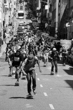 Viva La Skate Revolution... just push to protest comrades. Coming to a street near you Skullybloodrider.