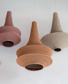 Lampe Crochet, Cosy Home, Handmade Lamps, Candle Lamp, Moroccan Design, Contemporary Interior Design, Lamp Design, Lampshades, A Boutique