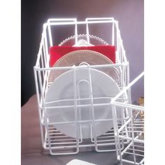 Features Dinner Plate Rack Wire Coated Dishwasher And Storage Holds 20 Plates Each White Finish Specifications Dimensions X Material