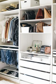 Create More Space In Your Homes With Ikea Pax Closet within Ikea Closet System by Maundy Master Bedroom Closet, Bedroom Wardrobe, Wardrobe Closet, Ikea Walk In Wardrobe, Small Built In Wardrobe Ideas, White Wardrobe, Small Wardrobe, Master Bedrooms, Build In Wardrobe