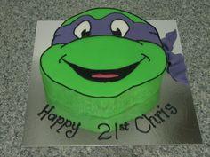 teenage mutant ninja turtle cake - For Adrian Turtle Birthday Parties, Ninja Turtle Birthday, Ninja Turtle Party, Ninja Turtles, 4th Birthday, Birthday Ideas, Birthday Cakes, Fondant Cupcakes, Cupcake Cakes