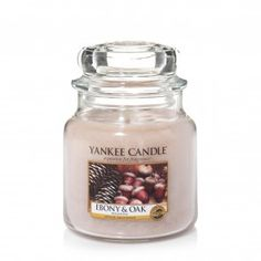 Yankee Candle Medium Jar - Ebony and Oak