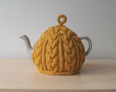 Knitted Tea Cosy Golden Yellow - BAILEY
