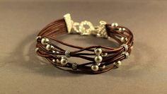 Abalorios pulsera cuero regalos de cuero pulsera para su regalo para su regalo para mujeres-regalo mejor cumpleaños amigo esterlina regalo pulsera de plata