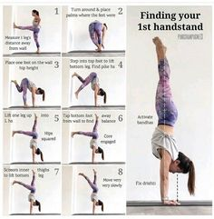 There are a lot of yoga poses and you might wonder if some are still exercised and applied. Yoga poses function and perform differently. Each pose is designed to develop one's flexibility and strength. Yoga Positionen, Yoga Handstand, Yoga Flow, Handstand Progression, Handstands, How To Handstand, Yoga Inversions, Handstand Challenge, Splits Challenge