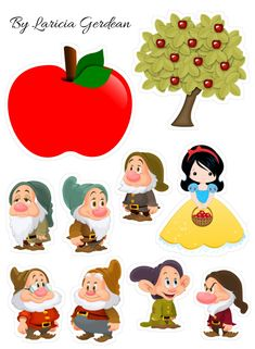 Princess Birthday, Baby Birthday, Diy For Kids, Crafts For Kids, Chibi Kawaii, Snow White Birthday, Disney Images, Felt Patterns, Disney Crafts