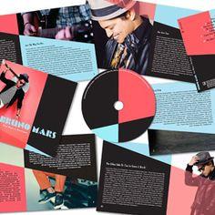 """FIDM Graphic Design Graduate Yuranni Contreras' music packaging design concept for Bruno Mars' """"Doo-wops & Hooligans"""" album."""