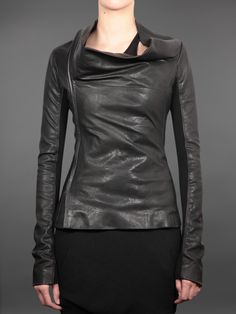 rick owens draped leather with inserts to maintain shape