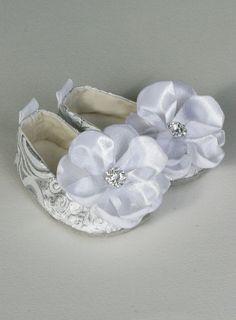 In Stock Easter Baby Ballet Slippers  Silver by revolutionarysoul, $30.00, soooooooooooooooo pretty!!!!