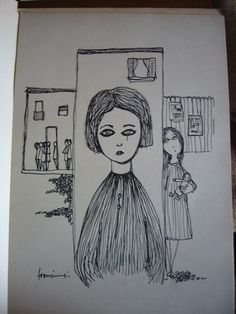 """Duilio Francimei, """"Le bambole in cortile"""", senza dati editoriali, anni '50, con 10 tavole illustrate in bianco e nero / Duilio Francimei, """"Dolls in the yard"""", without publishing and year (but The Fifties), 10 illustrated plates in black/white"""