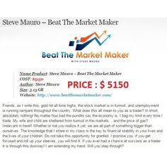 Steve Mauro Beat The Market Maker (5 Day BTMM Course online) Stock Options, Stock Market, Online Courses, Beats, All About Time, Finance, Author, Marketing, Writing