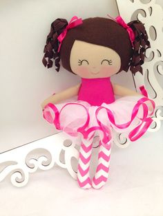 Ballerina Handmade Doll Rag Doll Fabric Dolls by SewManyPretties #ballerinadoll #ballerina