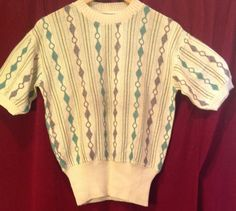 1940s /50s CABLE KNIT SWEATER / Jumper  / by Mrsbvintageboutique