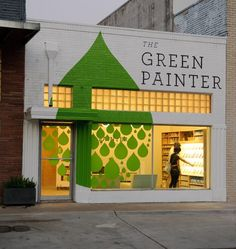 great store front design use    the green painter
