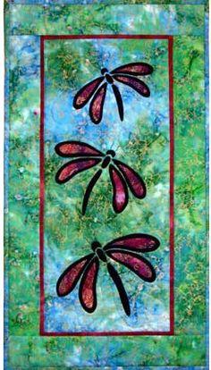 Stained Glass Dragonflies quilt pattern at Castilleja Cotton