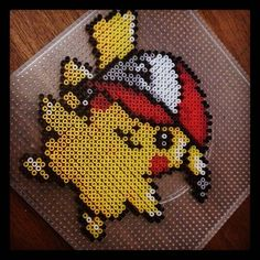 Pikachu Pokemon perler beads by mundiarte