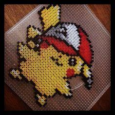 Pikachu Pokemon perler beads by mundiarte
