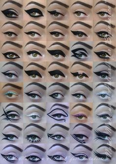 Naida Make up and Artwork.that would take a whole lot of practice and lots of eyeliner+eye makeup remover :P All Things Beauty, Beauty Make Up, Hair Beauty, Beauty Skin, Love Makeup, Makeup Tips, Makeup Looks, Makeup Ideas, Retro Makeup