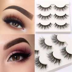 f21e2583334 LaaVoo Makeup Strip Hand-made Fake Eyelashes 3 Pair per Package. LaaVoo Hair  Extensions