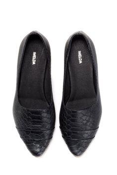 Black Slip ons flat shoes SALE 10% Off Black by ImeldaShoes