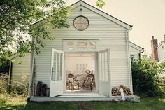 Pale & Interesting (near Rye & Camber Sands on the Kent Coast). From 'A New England Barn Style Wedding Inspired By 'The Secret Garden'  http://www.paleandinterestingthevenue.com/  Photography by Assassynation http://assassynation.co.uk/