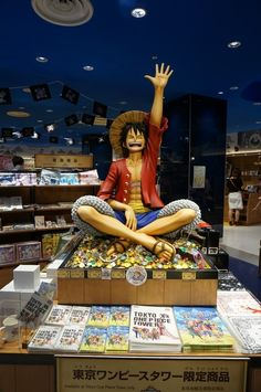 At the bottom of Tokyo Tower, you will find a commercial complex: Foottown. This complex contains a ONE PIECE themed store based on one of the most successful manga comics. You'll be amazed by their attention to detail in how they make the world of ONE PIECE come to life. There's also another popular manga comic store called Mugiwara Store with a cafe called Mugiwara Cafe. This report makes you consider going there, indeed!