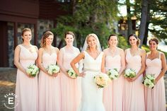hydrangea bouquets with a hint of greenery #bridesmaids #fleurtaciousdesigns  - Elario Photography