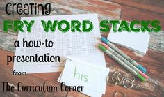 One of my favorite strategies for helping students master their sight words is simple and effective! I was introduced to the concept of Fry Word Stacks my first year teaching second grade and it has become my favorite strategy. Check it out in my video here: Creating Fry Word Stacks: A How-To Presentation Here are …