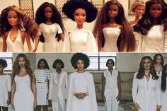 Ronny Larsson Dolls Solange Knowles Portrait-Meet the Man Who Recreates Famous Pop Culture Moments with Dolls - Elle
