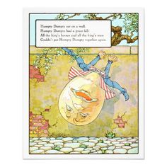 Vintage Nursery Print Humpty Dumpty From Zazzle