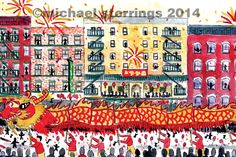 Happy Chinese New Year. 2016 marks the Year of the Monkey. My Favorite Image, My Favorite Things, New York Illustration, New York Winter, Year Of The Monkey, Happy Chinese New Year, Year 2016, Illustrations, Drawings