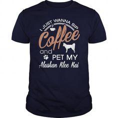 Awesome Tee  Pet my Alaskan Klee Kai  Shirts & Tees