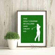Father's Day Golf Gift Golfing Print Man by PunkalunkPrintables