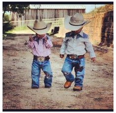 Sometimes I wonder what in the world would I do if I don't get a girl, but when I see stuff like this my heart melts! Country whittle boys are the cutest! <3
