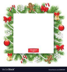 Christmas decorative square frame