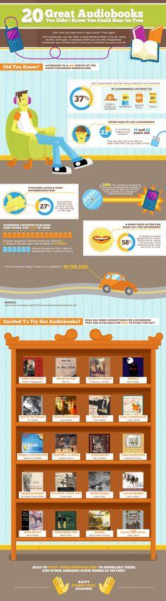 20 Free Audiobooks (And a fun infographic) - Shelf Addiction
