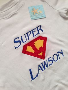 Super Hero Personalized Superman Shirt with Child's Name on Etsy, $20.00