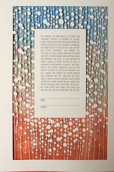 The BEADED papercut ketubah / wedding vows by RuthMergi on Etsy, $430.00
